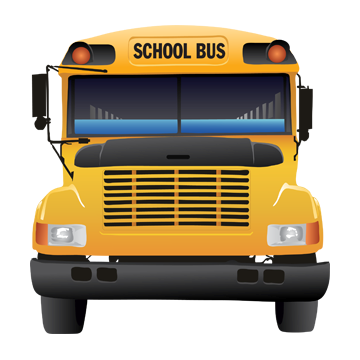 Clipart image of the front of a school bus