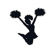 Silhouette clipart of a cheerleader