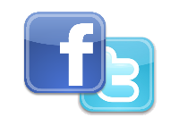 Clipart image of Twitter and Facebook logos