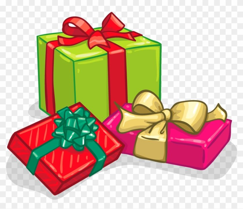 Clipart image of wrapped gifts