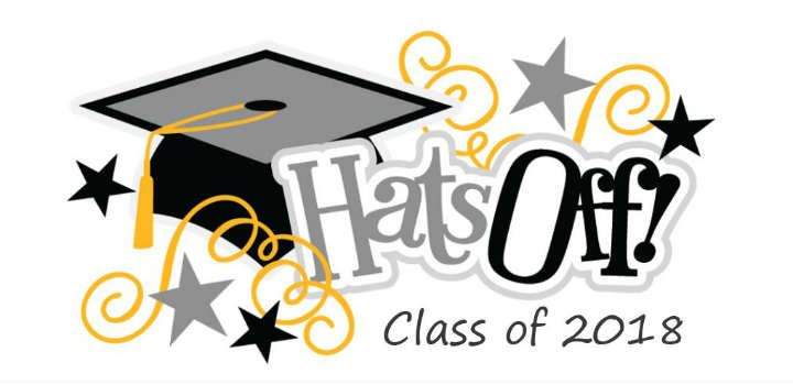 Clipart image - hats off to the class of 2018