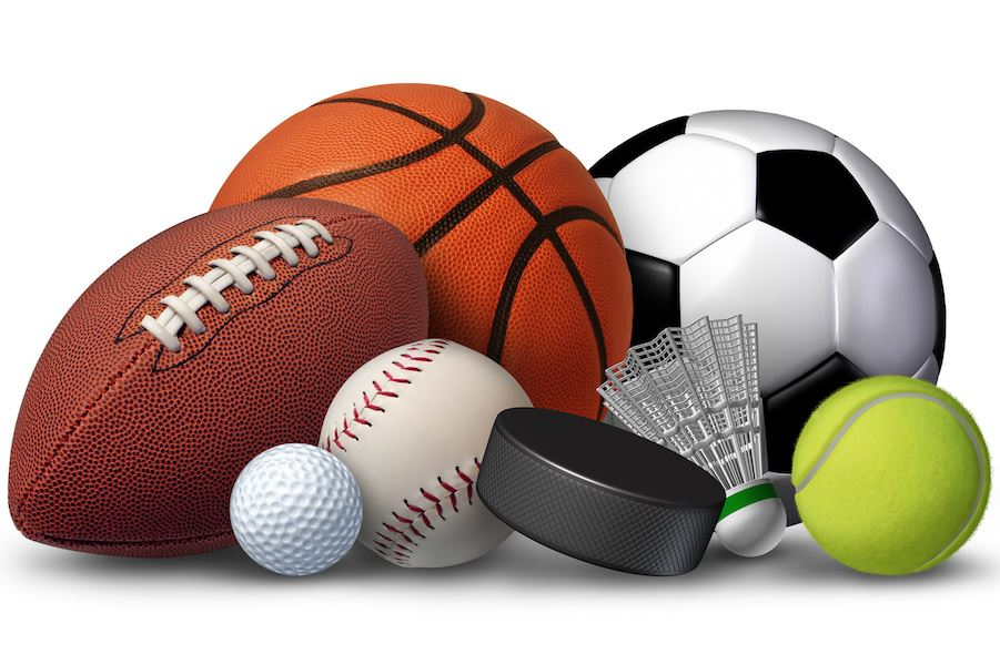 Clipart image of assorted sporting balls