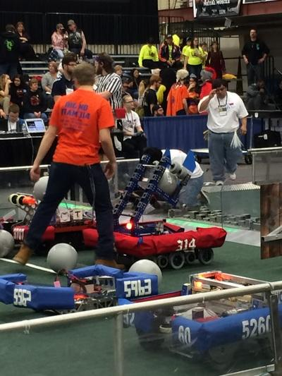 Hig School Robotics Team Big MO 314 at World Competition in 2017