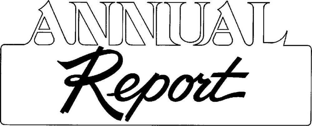 "Words ""Annual Report"" in outlined text"