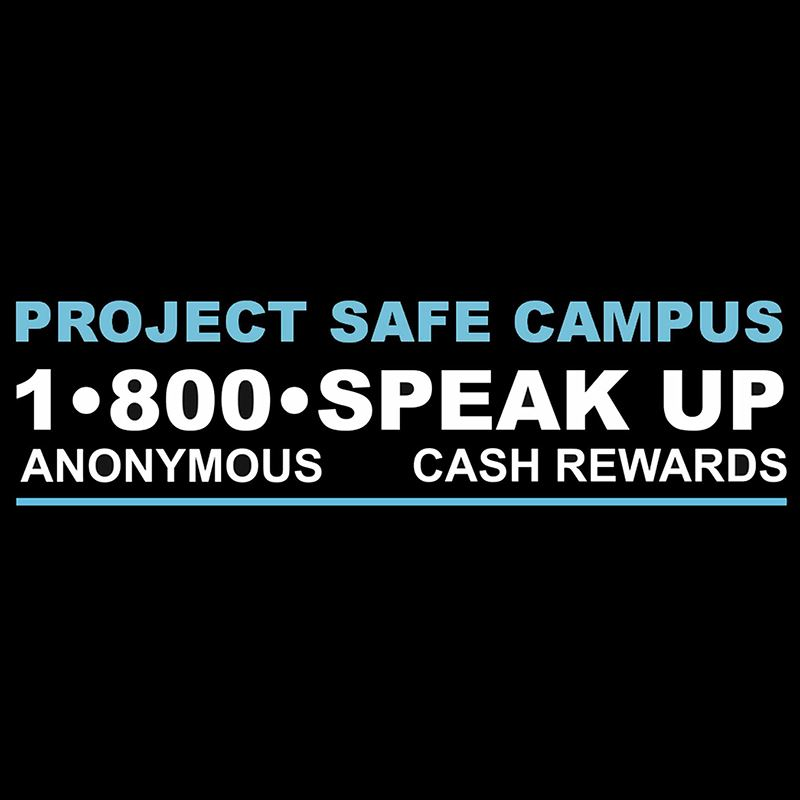 Project Safe Campus Logo with phone number of 1-800-SPEAK-UP included