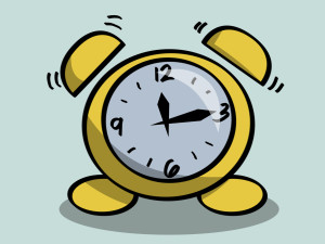Old fashioned alarm clock clipart image