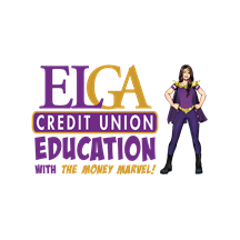 ELGA Credit Union Education with the Money Marvel logo image